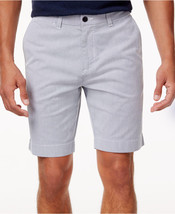 "New Mens Tommy Hilfiger Flat Front Striped 9"" Stretch Blue Shorts 38 - $24.99"