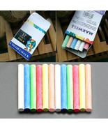 12pcs Colored Drawing Chalk for Kids School Education Stationary Office ... - $9.65