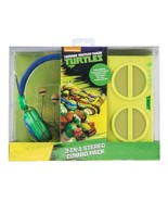 Teenage Mutant Ninja Turtles 3-In-1 Stereo Combo Pack Headphones Earbuds... - $49.49