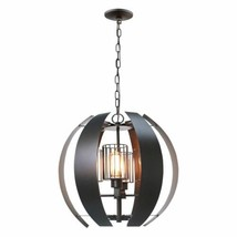 Worx 4-Light Oil Rubbed Bronze Chandelier with Cage Shades - $297.50