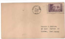 Wisconsin Tercentenary first day cover Jul 7, 1934 Green Bay, WI - $2.99