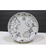 Festin Coquin Large Black White Lunch Plate Childs France Provence Art P... - $19.78