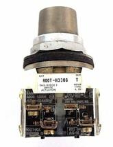 ALLEN BRADLEY 800T-H3306 SELECTOR SWITCH SER. T W/ 800T-XA CONTACT BLOCK SER. D