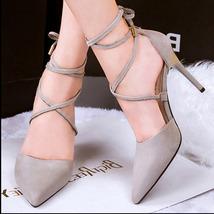 PS211 sexy elegant gladitor sandals, size 34-39, grey - $48.80