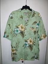 Men's CARIBBEAN JOE Button-Down Floral Shirt-Sz Large - $14.49