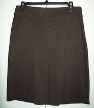 "GAP Stretch Brown Suede Fabric Skirt-Sz 8 (30"") - $14.24"