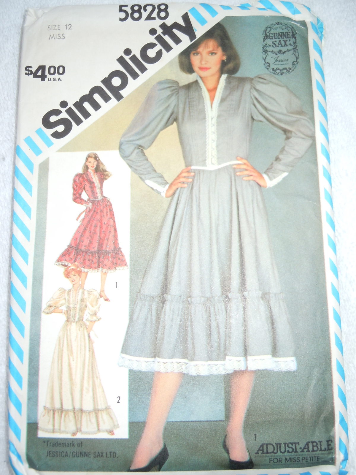 Simplicity Miss Size 12 Gunne Sax Dress 1982 and 50 similar items