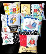 Six Cross Stitch Pincushions cross stitch chart Bobbie G Designs - $9.00