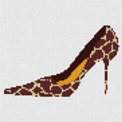 Giraffe Shoe Needlepoint Canvas - $40.00