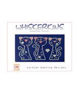 Snowflake Felines Whiskerins cat cross stitch chart CM Designs - $8.10