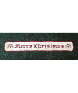 Merry Christmas cross stitch chart Death by Thread  - $10.00