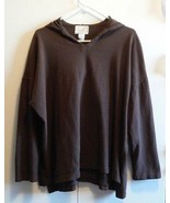 Men's Light Weight Chocolate Brown Hooded Shirts Tops  Small Medium Large - $13.05