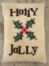 Holly Jolly christmas cross stitch chart Death by Thread  - $8.00