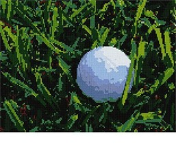 Golf Ball Needlepoint Canvas - $74.00