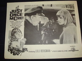 JUST ONCE MORE (CHANS) Lilli Bergman Sex Bad Girl Original Lobby Card 2nd - $3.79