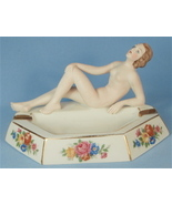 CICO German Deco Ashtray with Nude Bisque Woman - $175.00