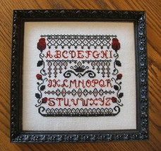 Rose Queen Sampler cross stitch chart Misty Hill Studio - $8.00