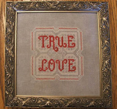 True Love cross stitch chart Misty Hill Studio - $8.00