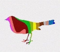 pepita Bird Palette Silhouette Needlepoint Canvas - $90.00