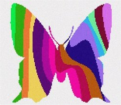 pepita Butterfly Palette Silhouette Needlepoint Canvas - $72.00