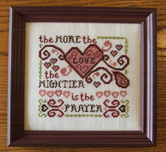 More Love More Prayer cross stitch chart Misty Hill Studio - $8.00