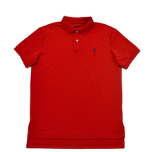 $90 Polo Ralph Lauren® Men's Classic-Fit Short Sleeve Mesh Polo, Red, Size L. - $59.39