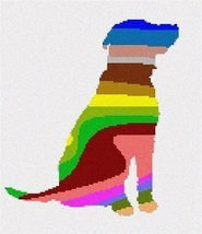 pepita Dog Palette Silhouette Needlepoint Kit - $118.00