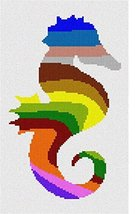 pepita Seahorse Palette Silhouette Needlepoint Canvas - $50.00