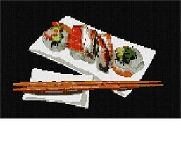 pepita Sushi Needlepoint Canvas - $50.00