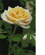 pepita Single Rose Needlepoint Canvas - $93.00