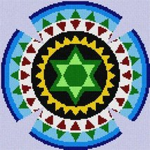 Yarmulka Gears (Large) Needlepoint Kit - $83.00