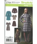Simplicity 2764 Coat, Jacket Dress Or Top And Skirt Size 12 14 16 18 20 ... - $2.00