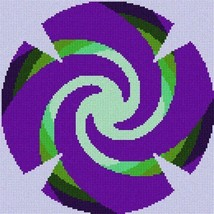 Yarmulka Swirls2 (Large) Needlepoint Kit - $79.50