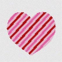 pepita Heart Striped Needlepoint Canvas - $50.00