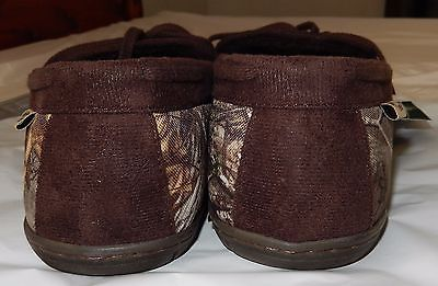 078b27b59f46a WESTERN CHIEF Realtree Camo Moccasin Slippers Sherpa Lining Sz 11 Med NEW