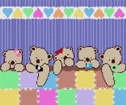 Uni Bears Medium Needlepoint Canvas - $93.00