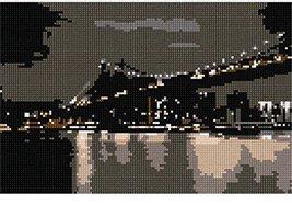 pepita Bridge at Night Needlepoint Canvas - $50.00