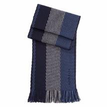HUGO BOSS Men's Blue Black Framino Striped Herringbone 100% Virgin Wool ... - $74.78