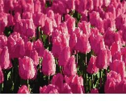 pepita Tulips Needlepoint Canvas - $93.00