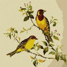 Red Headed Bunting (Large) Needlepoint Kit - $101.75
