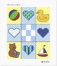 pepita Baby Boy Sampler Needlepoint Canvas - $88.00