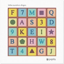pepita Letter Numbers Shapes Needlepoint Canvas - $82.00