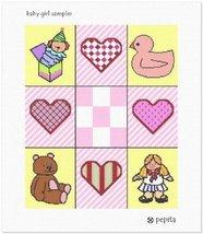 pepita Baby Girl Sampler Needlepoint Canvas - $88.00