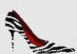 Zebra Ruby Shoe Needlepoint Kit - $75.00