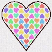 Valentine Hearts Needlepoint Canvas - $82.00