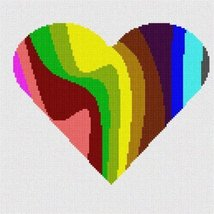 Heart Palette Silhouette Needlepoint Kit - $68.00