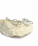 Sterling Silver Filled Treble Clef Stud Earrings - $19.90
