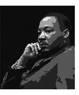 Martin Luther King Jr Needlepoint Canvas - $55.00