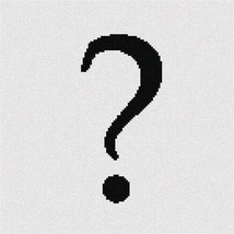 Pointseller Question (Large) Needlepoint Canvas - $82.00