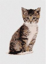 pepita Kitty (Large) Needlepoint Canvas - $90.00